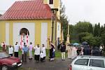 Mše a svěcení německého památníku na hřbitově v Polomi