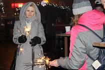 Vítání nového roku v Přerově. Ilustrační foto