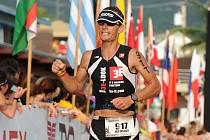 Triatlonista jaroslav Hýzl na závodech na Havaji