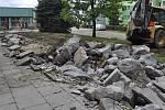 Oprava chodníku a schodiště u zdravotního střediska na Kopaninách v Přerově