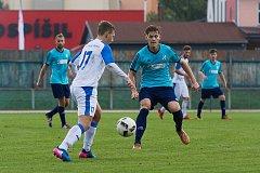 Fotbalisté 1. FC Viktorie Přerov proti 1. HFK Olomouc.