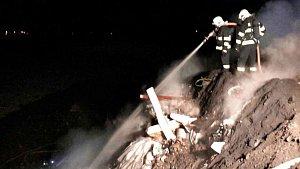 Požár skládky v Lipníku nad Bečvou