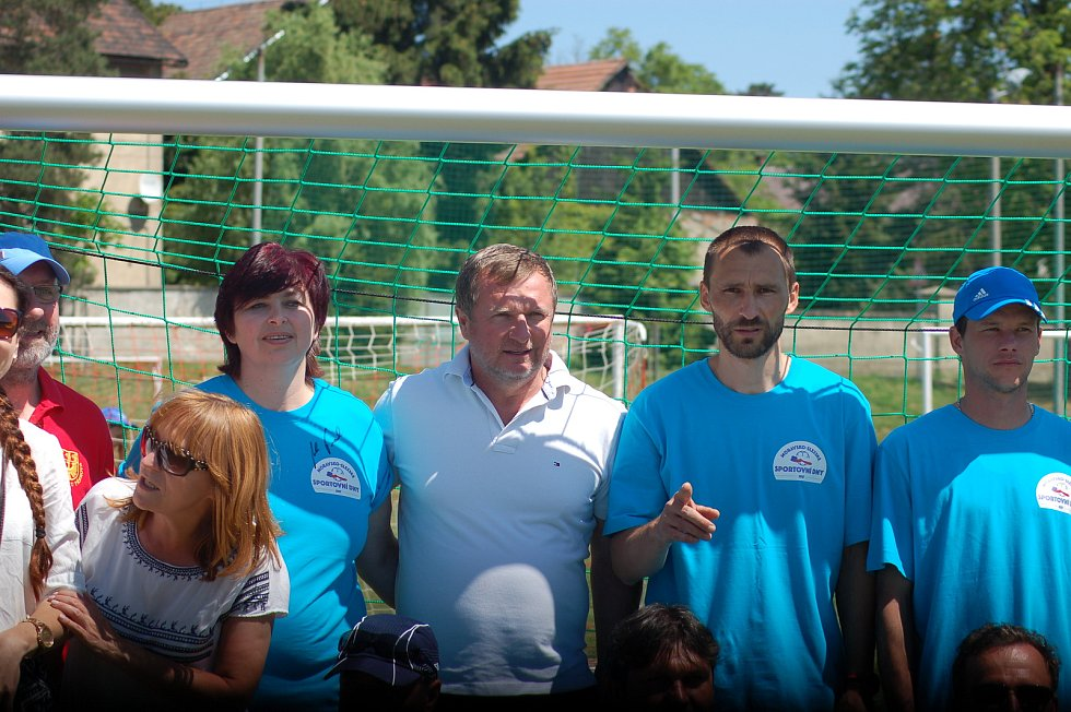 Bývalý reprezentační trenér Pavel Vrba zaštítil sportovní den v Pavlovicích u Přerova.