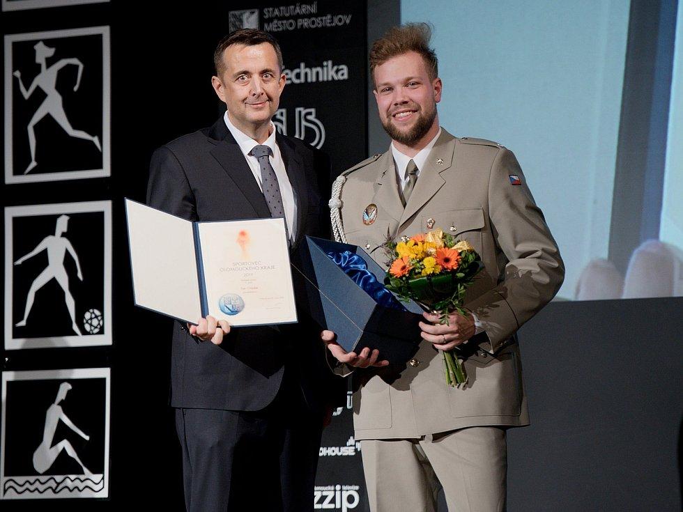 Vyhlášení Sportovce Olomouckého kraje za rok 2019 v Městském domě v Přerově.  Petr Chládek, 3. nejlepší junior
