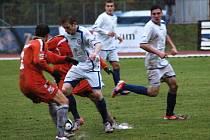 1.FC Viktorie Přerov (v bílém) vs. FK Mikulovice