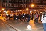 Stovky lidí přišly v Přerově zavzpomínat na výročí Sametové revoluce