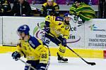 Hokejisté Přerova (ve žlutém) i počtvrté v sezoně 2017/2018 porazili Vsetín.
