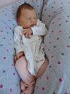 Zoe Hlavatá, Čehovice, narozena dne 30. května vPřerově, míra 54 cm, váha 4090 g