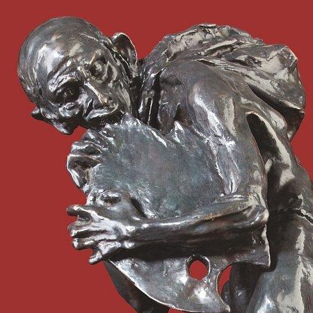 """Fotografie sochy Quida Kociána """"Úděl umělce""""."""