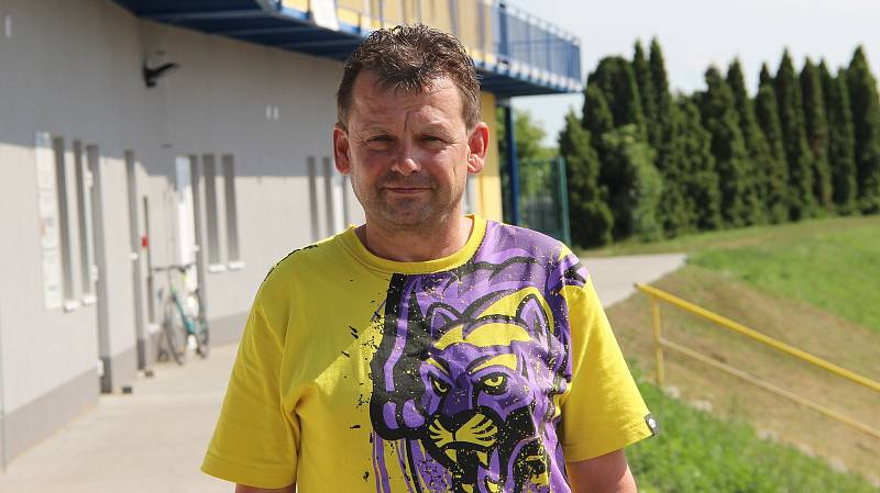 Předseda 1. FC Viktorie Přerov Břetislav Holouš.