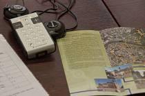Audiopřehrávač, který umožňuje individuální komentovanou prohlídku městem Přerov