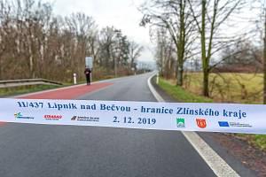 V Lipníku se otevřela po náročné rekonstrukci silnice II/437 Lipník - hranice Zlínského kraje
