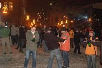 Vítání nového roku na přerovském náměstí TGM