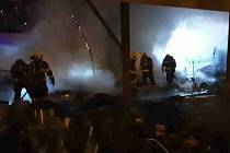 Požár nádražní budovy v Přerově, 31. ledna 2021