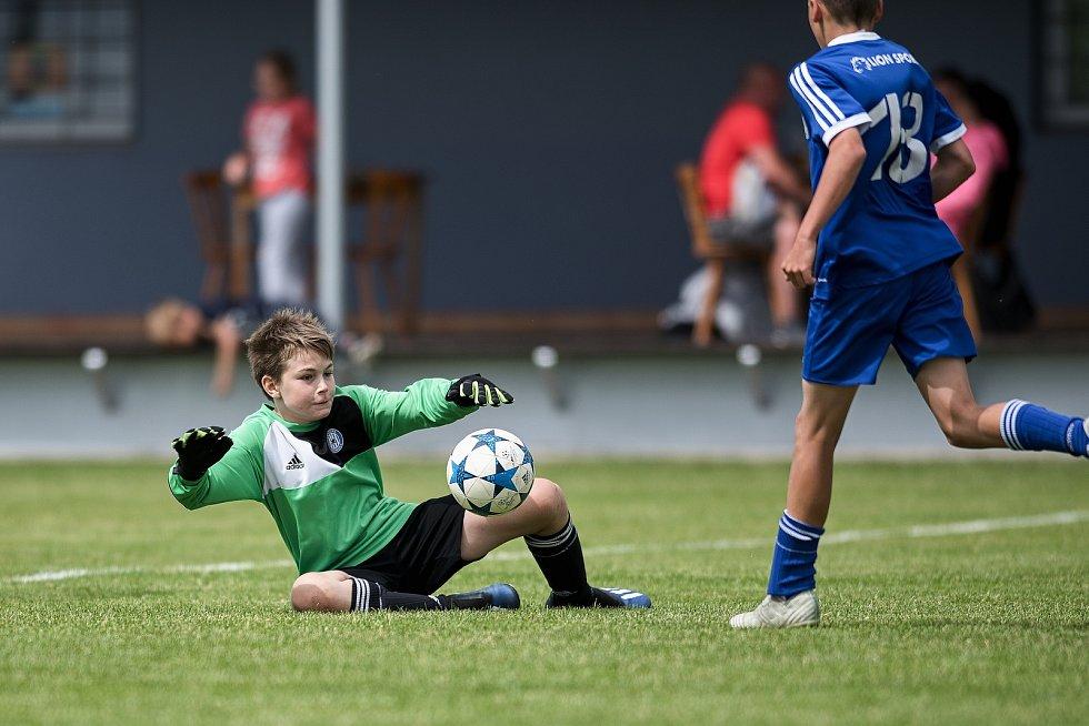 Žákovský memoriál v Želatovicích. SK Sigma Olomouc (v modrém) - FC Baník Ostrava