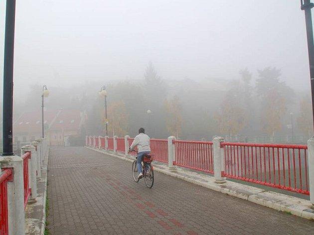 Přerov ve smogovém oparu