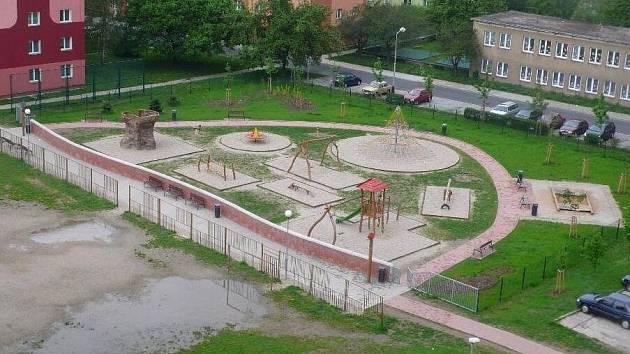 Přerovské dětské hřiště na pomezí ulic Jasínkova a Interbrigadistů
