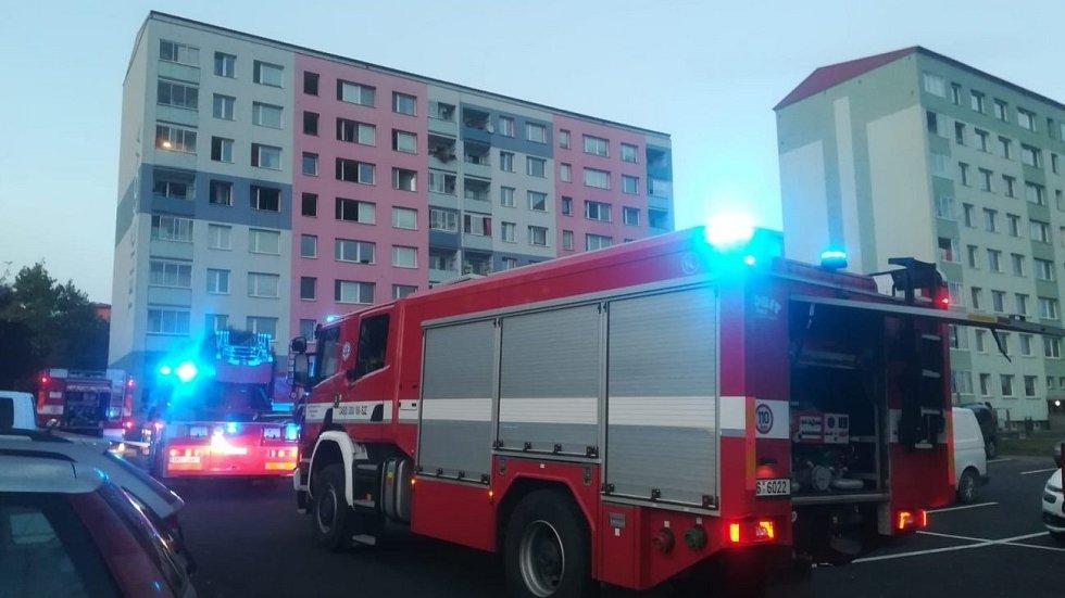 Požár v paneláku v Předmostí, 9. října 2020