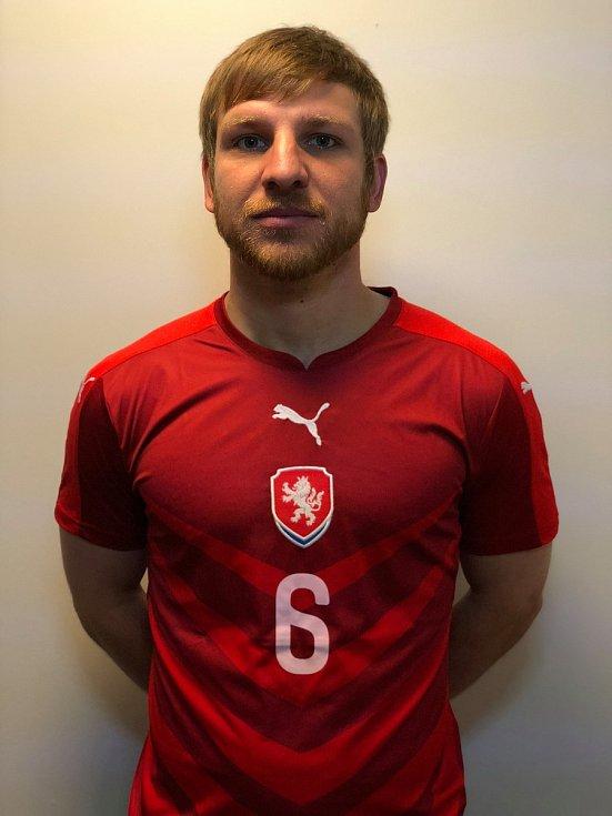 Jakub Matyáš v dresu české reprezentace neslyšících.