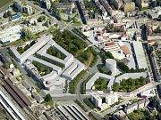 Soutěž na podobu okolí průpichu: na druhém místě skončil návrh číslo 6 architektky Jany Kaštánkové