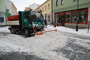 Úklid zasněžených přerovských ulic