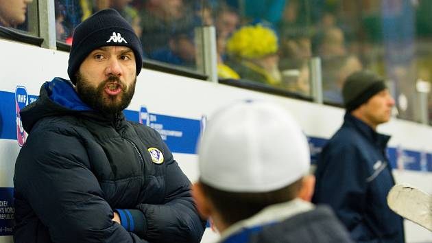 Trenér Vladimír Kočara.