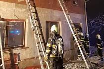 Požár rodinného domku v obci Buk na Přerovsku
