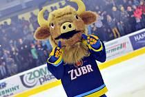 Maskot hokejistů HC Zubr Přerov.