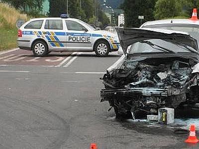 Nehoda na křižovatce Na Horecku. Ilustrační foto