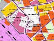 Stavba průpichu:výřez územního plánu