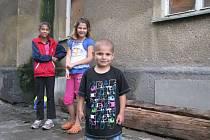 Škodova ulice v Přerově - Romské děti
