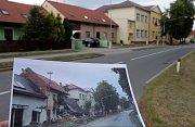 Troubky ulice Dědina. Srovnávací foto z 12.7.1997 a 5.7.2017