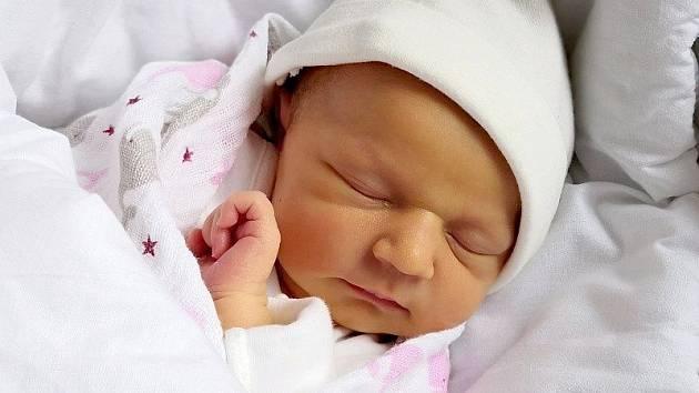 Eliška Šteflová, Přerov, narozena 17. ledna 2020 v Přerově, míra 50 cm, váha 3110 g