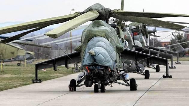 Vojenská vrtulníková základna v Bochoři