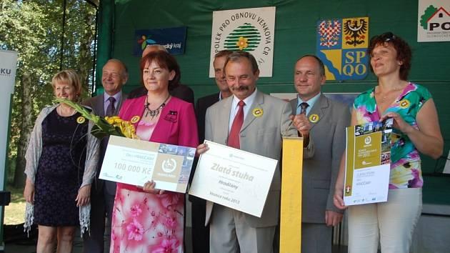 Vyhlášení výsledků krajského kola soutěže Vesnice roku v Hradčanech