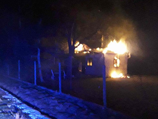Požáru chatky ve Věžkách