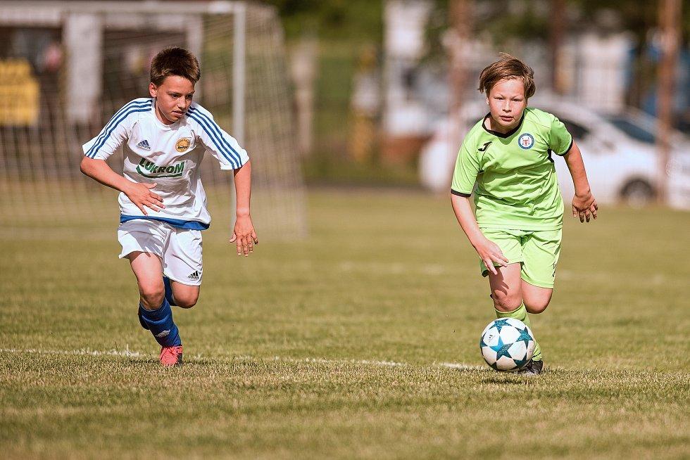 Žákovský memoriál v Želatovicích. FC Fastav Zlín - 1. FC Viktorie Přerov (v zeleném)