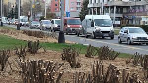 Začátek uzavírky Polní ulice v Přerově