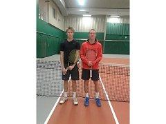 Finalisté severomoravského oblastního přeboru Martin Trefný (vlevo) a Jakub Kadora.