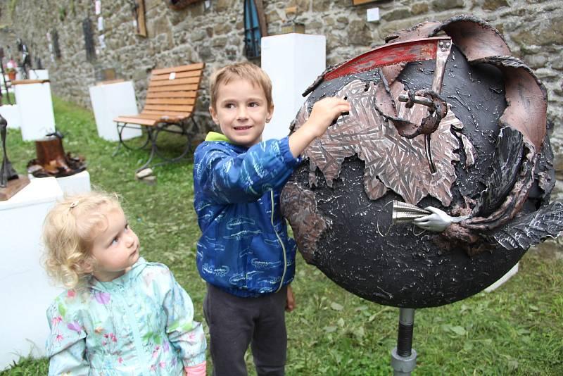 Setkání uměleckých kovářů na Helfštýně s názvem Hefaiston
