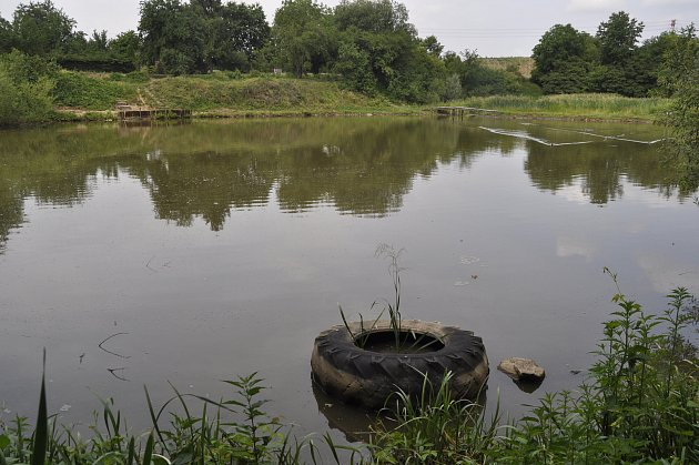Z rybníku Hliník v Předmostí se ztrácí voda. Přerovští rybáři si myslí, že nelegální odběry jsou dílem místních zahrádkářů.