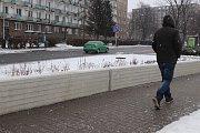Na protipovodňové zídce na nábřeží Edvarda Beneše v Přerově, která byla uvedena do provozu před rokem a půl, se objevila prasklina.