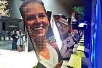 Snímek Jiřího Vojzoly, na kterém tenistka Dominka Cibulková slaví vítězství, ale zároveň vítá návštěvníky slovenského pavilonu na Expo 2015 v Miláně