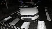 Nehoda na rondelu v centru Přerova