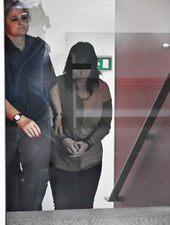 Alena G. z Přerova, obžalovaná z vraždy tříleté dívky, u krajského soudu v Olomouci