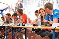 Česká biatlonová elita na návštěvě v přerovské Meoptě