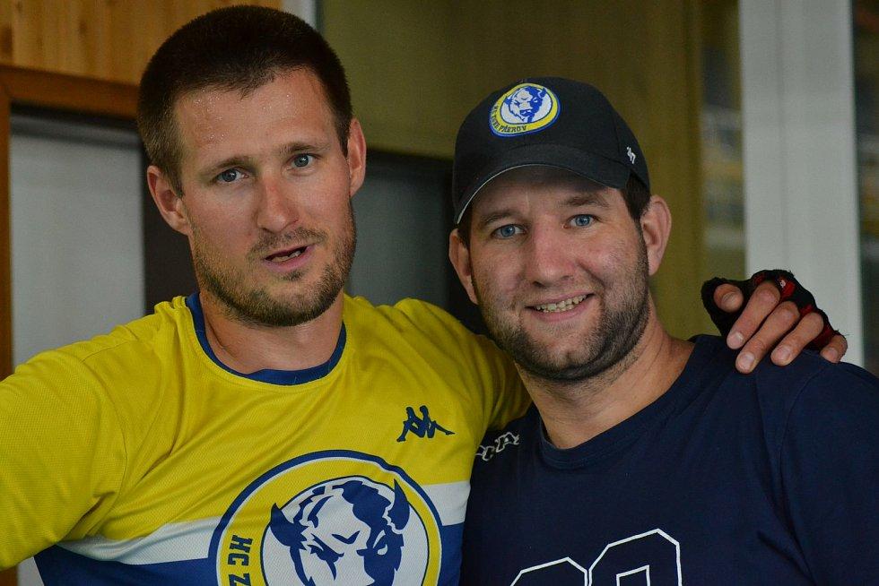 Roman Pšurný (vlevo) a Lukáš Menšík.