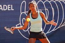 Druhý den hlavní soutěže tenisového Zubr Cupu v Přerově. Pernilla Mendesová.