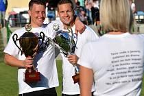 Fotbalisté Kozlovic slaví vítězství v Krajském přeboru