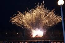 Ohňostroj a vítání nového roku 2015 v Přerově